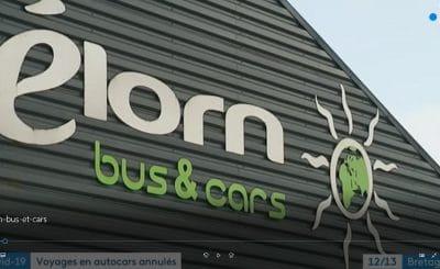 France3 Bretagne-coronavirus-voyages en autocars annulés les conséquences du coronas virus en bretagne dans le Finistère pour l'entreprise Elorn bus et cars