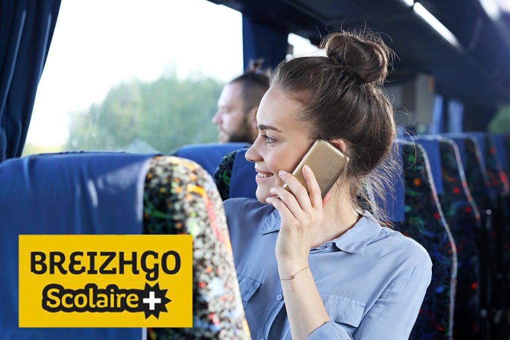 La carte breizhgo scolaire + vous permet de voyager gratuitement toute l'année scolaire sur l'ensemble du réseau breizhgo