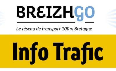 info trafic breizhgo actualité du réseau de transport Finistère