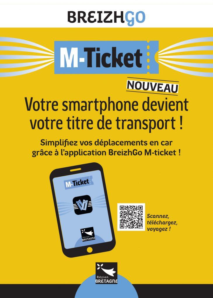 Téléchargez gratuitement l'application sécurisée Breizhgo M-Ticket sur votre smartphone pour acheter vos titres de transport