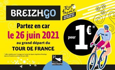 Tour de France Breizhgo transport Finistère autocar